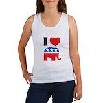 I Heart Republicans Women's Tank Top