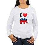 I Heart Republicans Women's Long Sleeve T-Shirt