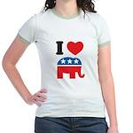 I Heart Republicans Jr. Ringer T-Shirt