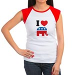 I Heart Republicans Women's Cap Sleeve T-Shirt