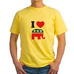 I Heart Republicans Yellow T-Shirt