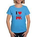 I Heart Republicans Women's Dark T-Shirt