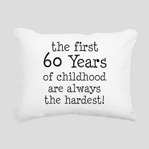 First 60 Years Childhood Rectangular Canvas Pillow