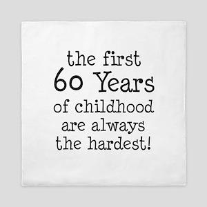 First 60 Years Childhood Queen Duvet