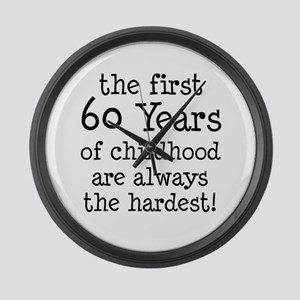 First 60 Years Childhood Large Wall Clock