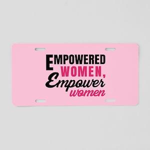 Empowered Women Empower Women Aluminum License Pla