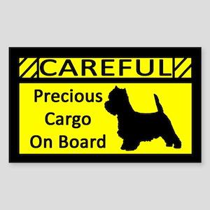 Precious Cargo West Highland Terrier Sticker
