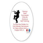 Mark Twain Fiddle Oval Sticker