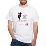 Mark Twain Fiddle White T-Shirt