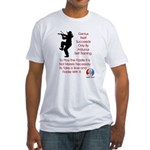 Mark Twain Fiddle Fitted T-Shirt