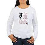 Mark Twain Fiddle Women's Long Sleeve T-Shirt