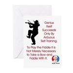 Mark Twain Fiddle Greeting Cards (Pk of 20)