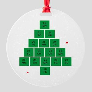 Oh Chemistree Round Ornament