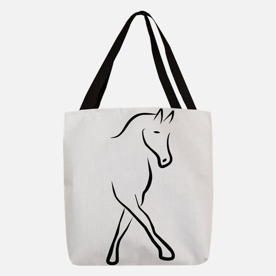 dressage Polyester Tote Bag
