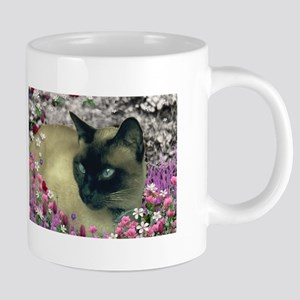 Stella Siamese Cat Flowers Mugs
