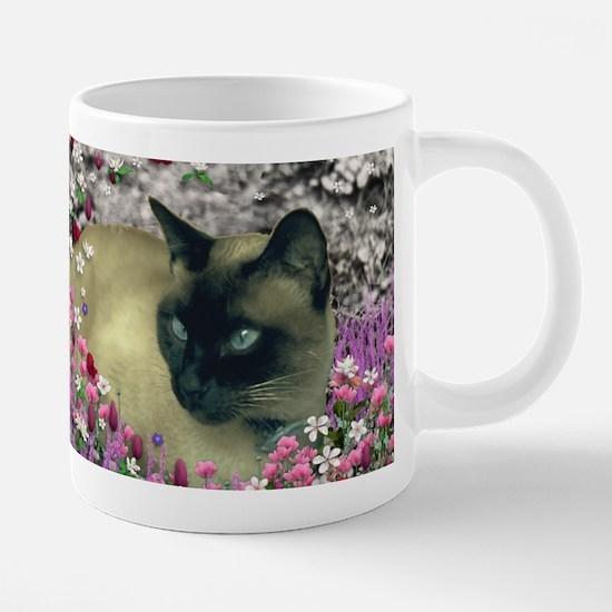 Stella Siamese Cat Flowers Mugs