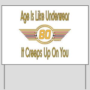 Funny 80th Birthday Yard Sign