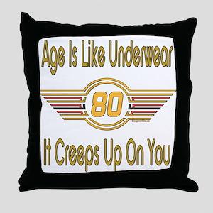 Funny 80th Birthday Throw Pillow