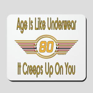 Funny 80th Birthday Mousepad