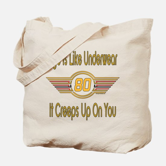 Funny 80th Birthday Tote Bag