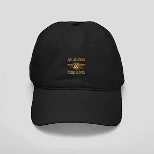 Funny 80th Birthday Black Cap