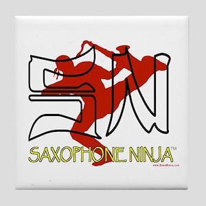Saxophone Ninja Tile Coaster