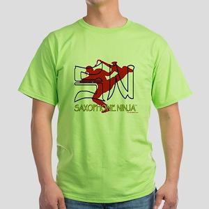 Saxophone Ninja Green T-Shirt