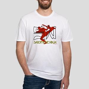 Saxophone Ninja Fitted T-Shirt