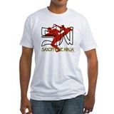 Saxophone ninja Fitted Light T-Shirts