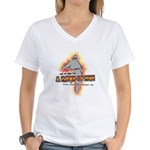 New Blog Chaos Women's V-Neck T-Shirt