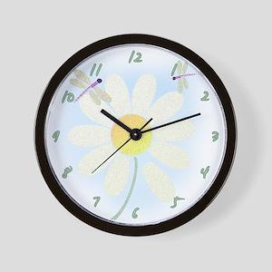 Lazy Summer Dragonflies Wall Clock