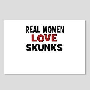 Real Women Love Skunks Postcards (Package of 8)