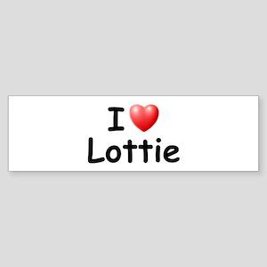 I Love Lottie (Black) Bumper Sticker