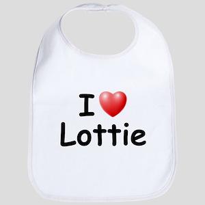 I Love Lottie (Black) Bib