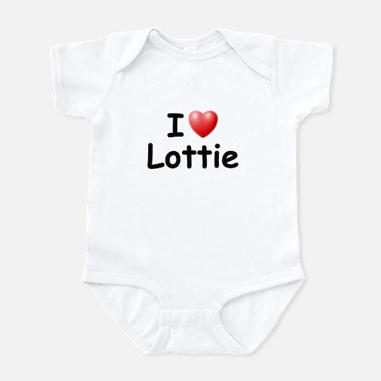 I Love Lottie (Black) Infant Bodysuit