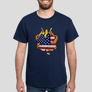 Irish Firefighter Shamrocks Dark T-Shirt