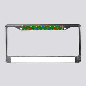 African patterns License Plate Frame