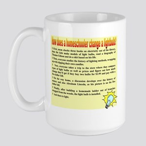 Homeschool Lightbulb Large Mug