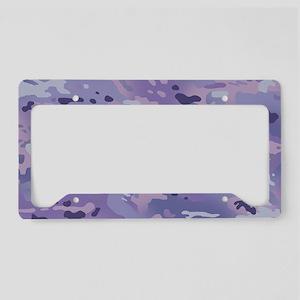 Camouflage: Purple License Plate Holder