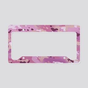 Camouflage: Pink License Plate Holder