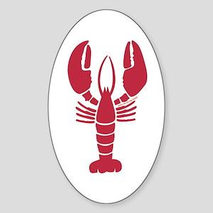 Lone Lobster Oval Sticker