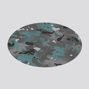 Camouflage: Arctic Blue and 20x12 Oval Wall Decal