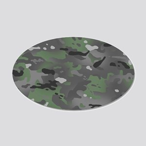 Camouflage: Arctic Green and 20x12 Oval Wall Decal