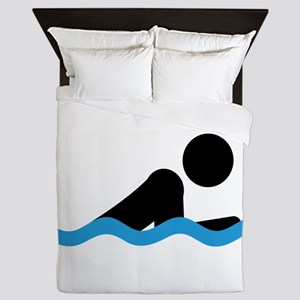 breaststroke Queen Duvet