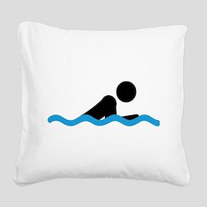 breaststroke Square Canvas Pillow