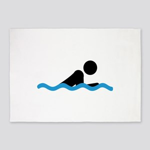 breaststroke 5'x7'Area Rug