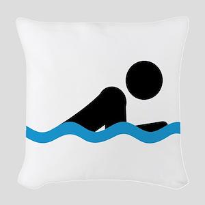 breaststroke Woven Throw Pillow