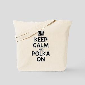 Keep Calm Polka Tote Bag