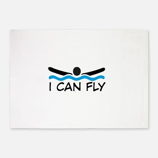 I can fly 5'x7'Area Rug