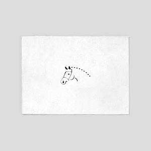 horse 5'x7'Area Rug